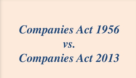 companies act 1956 and 2013